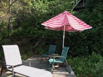 Deck 1 with umbrella