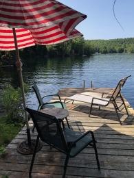 deck 2 dock and lake