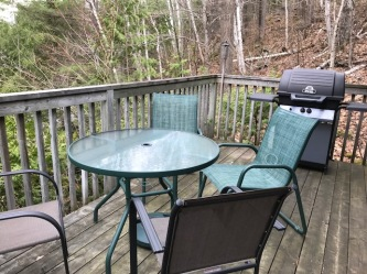 deck, table and bbq