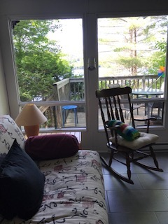 rockint chair near window
