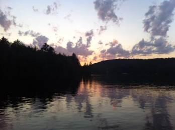sunset over Dam Lake