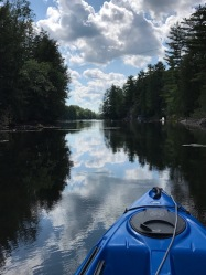 kayak on lake