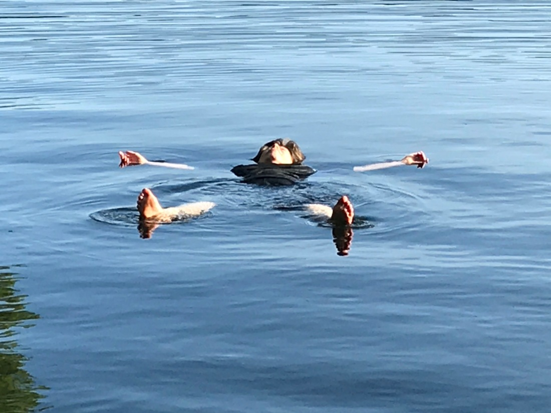 floating on the lake:late summer